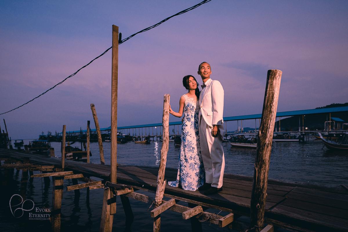 Overseas pre wedding love story in Penang, Malaysia