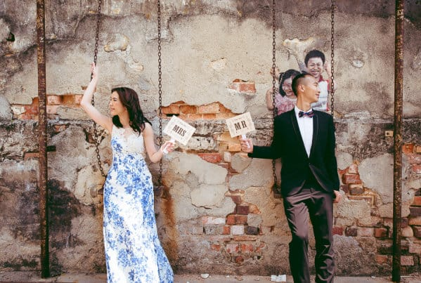 Fiona and Lawrence Destination Pre Wedding Photography session in Penang